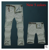 Wholesale 2015 spring summer camping hiking Men s pants Outdoor UV Resistant Fast Drying men s Quick Dry Pants Pants sport trousers detachable