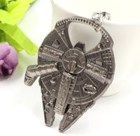 Wholesale Fashion Practical keychains Star Wars Millennium Falcon Metal Alloy Bottle Opener movie keychain jewelry gift for firend keyrings