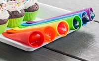 Cheap Frozen Ice Cream Pop Mold Popsicle Maker Lolly Mould Tray Colorful Silicone Ice Cream Maker Pop Mold Assorted Colors