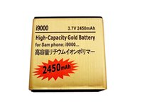 galaxy s battery - High capacity mah gold replacement battery for Samsung GALAXY S i9000 batteria