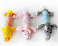 Wholesale Hot Sales New Dog Toys Pet Puppy Chew Squeaker Squeaky Plush Sound Duck Pig Elephant Toys Designs