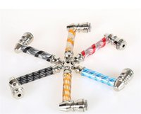Wholesale 10pcs colorful smoking pipes metal pipe tobacco pipe for herb Mix designs