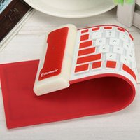 wireless silicone keyboard - Swiss post Waterproof USB Flexible Silicone Keyboard Foldable for PC table Laptop mobile