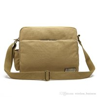 Wholesale Retro canvas bag men outdoor leisure travel bag shoulder messenger bag school backpacks A12