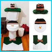 bathroom decoration accessories - Christmas New Best Happy Santa claus toilet cover bathroom sit tank cover bath accessories christmas