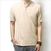 Cheap White Collarless Shirt Men | Free Shipping White Collarless ...