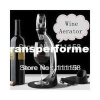 wine accessories - Deluxe Wine Aerator Tower Set Red Wine Glass Accessories Quick Magic Decanter With Gift Box set DHL