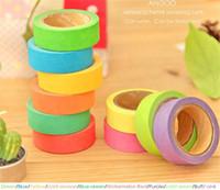 decorative tape - 1 set Rainbow Washi Sticky Paper Masking Adhesive Decorative Tape Scrapbooking DIY