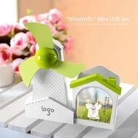 Wholesale Multifunction in Windmills Mini USB fan with photo frame amp pen holder USB Cartoon Fan with Soft Fan Blade for