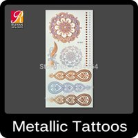 adult body paint - new Glitter Gold Fake Metallic Tattoo Jewelry Temporary Tattoos for Adults Body Paint Stickers