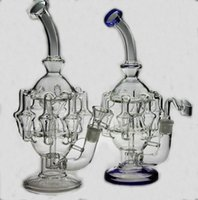 Wholesale BONG New Recycler glass bong dabs new Percolator Cyclone Helix water pipe Such an intricate Recycler water pipe oil rig