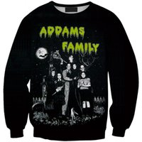 adams family - Burst models in Europe and America Adams family of digital printing hedging sweater Sws0125