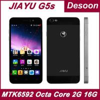 al por mayor jiayu g5-Traducido por robots 100% los teléfonos celulares originales Jiayu G5 MTK6592 Octa Core 2 GB de RAM 16 GB Rom cristal Gorilla IPS ruso / Koccis