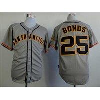 Wholesale Barry Bonds Grey Baseball Jerseys New Collection Giants Team Player Uniforms Men Sport Shirts Discount Baseball Wear for Sale