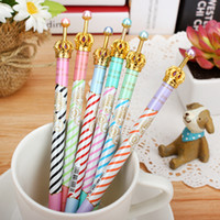 Wholesale mix pattern Promotional Pen mm new crown stripe Plastic Gel ink Gel Pens