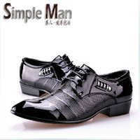Wholesale The new fashion of high quality leather shoes for men with the man s apartment Oxford wedding shoes business formal criminal t