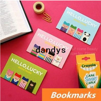 Wholesale 144 Magnetic Bookmarks Lucky boy Metal bookmark Book Page Holder Korean stationary office materials School supplies dandys