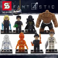 Wholesale 8pcs New Fantastic Four action figures Blocks Figures Mr Fantastic Invisible Woman The Thing Human Torch Dr Doom free ship