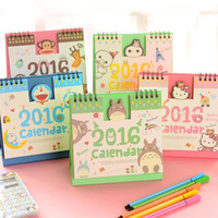 Wholesale 1 Pics Hello Kitty Minions Baymax Panda Totoro Cute Cartoon Office Planner Standing Print Desk Table Calendar For Agenda