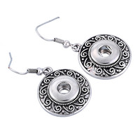 antique button earrings - 2016 hot antique silver Noosa Earrings women earring studs alloy chunk button snap mm DIY Interchangeable ear rings