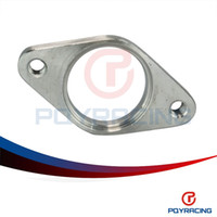 stainless steel flange - PQY STORE STAINLESS STEEL WASTEGATE DUMP PIPE BOLT FLANGE WITH THREAD MM TURBOCHARGER PQY4831