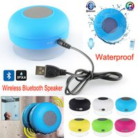Wholesale Portable Waterproof Wireless Bluetooth Speaker Shower Car Handsfree Receive Call Music Suction cup subwoofer speakers For Phone Tablet PC