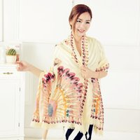 Wholesale Fashion Women s Elegant Sunflower Printed Cotton Scarf Long Voile Shawl Wrap