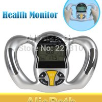 Wholesale Household Health Monitors Body Fat Monitors Sport gadget Digital LCD Mini Handheld BMI Tester Body Fat Monitor Health Analyzer Fat Meter
