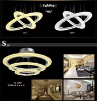 adjustable height pendant - Round LED Pendant Lights W LED Indoor Lighting Adjustable Height Arcylic and Stainless Steel Material Hot Sale MJJC