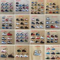 silicone shoes - DHL Free Jordan Basketball Shoes Generations Lebron Durant Yeezy Kobe Foamposites Back To The Future KeyChains