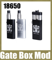 18650 Gate Box mod 510/ego thread mech mod Hell's Gate Box Mod Dual Thread fit 2 RDA atomizers Yep Hells Gate Mod double 18650 batteries mods box mods vs king mod 26650 TZ238