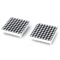 Wholesale Plastic pin x LED Red Green Light Matrix Modules Black White