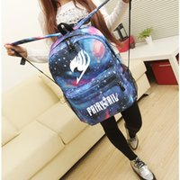 Wholesale Tide Brand Fairy Tail Fashion Canvas Backpack Double Shoulder Bag For Boys Girls School Bags Gift Colors
