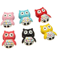 Wholesale 6X Gorgeous Resin Owl Fridge Magnets Memo Decor Magnetic Sticker Whiteboard Gift order lt no track