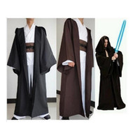 Wholesale Anime Star Wars cosplay Costume Unisex Adult Hooded Robe Jedi Kinight Cosplay Black Brown Cloak Cape for Men S XL