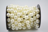 Wholesale 14mm ivory pearl String Garland for festival decor accessories yards roll