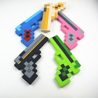 Wholesale HOT christmas gift minecraft Foam Gun kinds of style minecraft kids party toy pieces