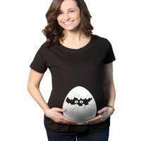 Wholesale 2015 Summer Style Tee Funny Broken Egg Print Gravida T shirt Pregnant Maternity T Shirts Casual Breastfeeding Tops K37
