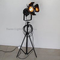 Wholesale 1 Set Industrial Bar Creative Studio Retro Nostalgia Loft Edison Black Floor Lights PLT05 A3