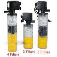 Wholesale Super aquarium filter filter for aquarium Air Pump Air Oxygen Increase Aquarium Internal Filter Aquarium Pump Filter