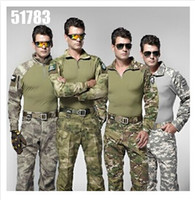 hunting clothes - 2015 training uniforms Army military tactical clothing set cargo pants shirt camouflage army outdoor men clothing camping hiking hunting
