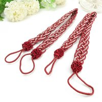 Wholesale Window Curtains Tassels Tieback Polyester Silk Multi Color Optional Decorative Tie Living Bed Room X2 cm Color