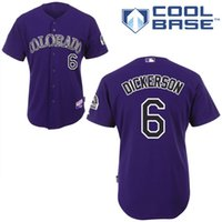 baseballs dickerson - Cheap Colorado Rockies Jersey Corey Dickerson Jersey Authentic Baseball Jersey Embroidery logos White Grey Purple stitched size S XL