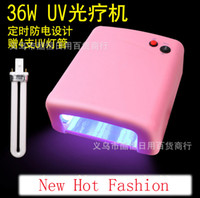 Wholesale Nail Lights Therapy Machines UV Lamp W V Nail Art UV Lamp Gel Curing Tube Light Pink Dryer Lamp Tubes EU US Plug Can Be Timed jk8020