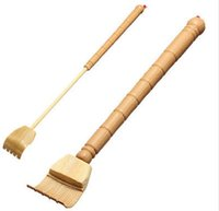 bamboo scratcher - Plastic Bamboo Telescopic Extendable Back Scratcher Practical Itching Massager A2
