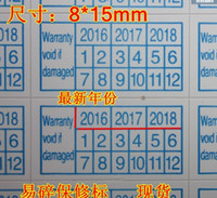 Wholesale 2016 Warranty sealing label sticker void if damaged with years and months mm