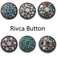 anniversary charm bracelet - D02228 Fashion mm Snap Buttons DIY snap button noosa chunks leather bracelet Fit DIY Noosa button Bracelet Jewelry