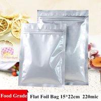 Precio de Bolsas de embalaje reutilizables-Precio al por mayor 100pcs 15 * 22cm 220micron espesa el bolso de la hoja de aluminio planas Zip fondo La función de bolsa resellable bolsas de embalaje