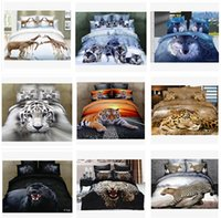 Wholesale 13 colors D Bedding Set animal bedding set Bed Set Full Queen Size Duvet Cover Fitted Sheet Flat Sheet Pillow Shams m515