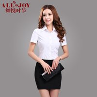 Cheap Summer professional set female short-sleeve shirt tailored skirt set formal work wear